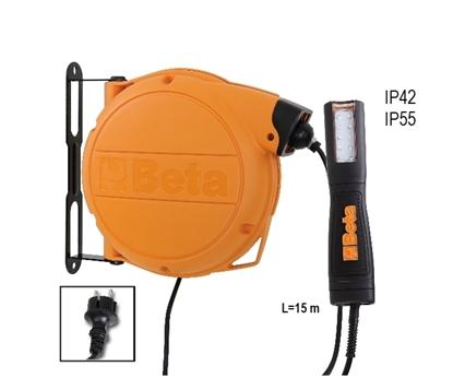Afbeeldingen van BETA autom.kabelhaspel met LED inspectielamp 1846/BM PROMO