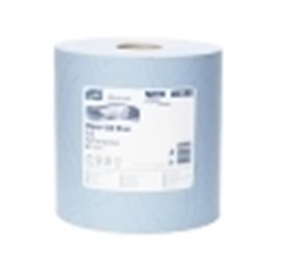 Afbeeldingen van Poetsrol TORK 420 blauw 2-L, 1500 vel, blauw