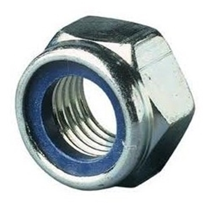 Picture of Zelfborg. 6-kantmoer+nylon ring DIN985 ELVZ M24