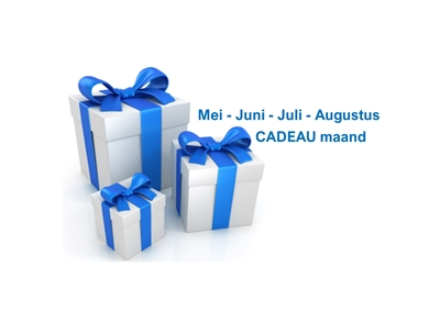 Mei - Juni - Juli - Augustus CADEAU maand